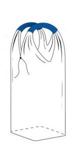 Однослойная рукавная ткань, вшивное дно
