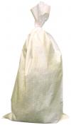 белый мешок наполнен и завязан