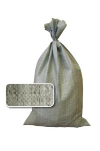 серый мешок наполнен и завязан 1